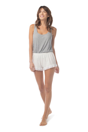 Bonsoir Sleep Short WHITE / XS - Synergy Organic Clothing
