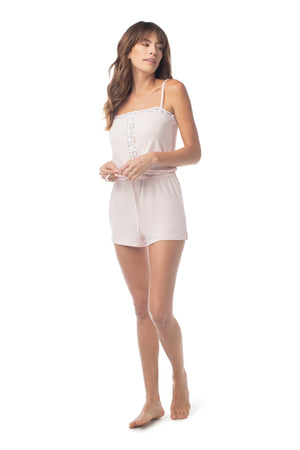Sleep Romper ROSE QUARTZ / XS - Synergy Organic Clothing