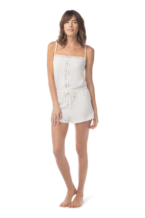 Sleep Romper WHITE / XS - Synergy Organic Clothing