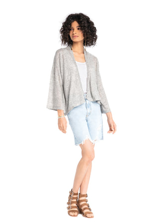 Butterfly Cardigan HEATHER GREY / XS - Synergy Organic Clothing