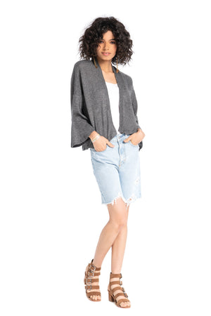 Butterfly Cardigan CHARCOAL / XS - Synergy Organic Clothing
