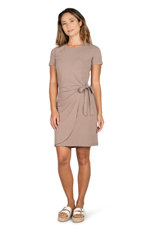 The Memphis Dress TAUPE / XS - Synergy Organic Clothing