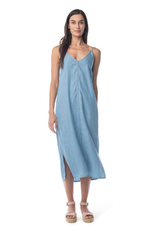 Bi-Coastal Slip Dress LIGHT WASH / XS - Synergy Organic Clothing