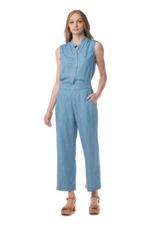 Crisp & Cool Jumpsuit LIGHT WASH / XS - Synergy Organic Clothing