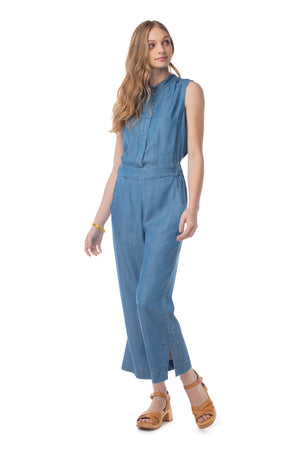 Crisp & Cool Jumpsuit MEDIUM WASH / XS - Synergy Organic Clothing
