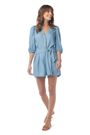 Cadence Romper LIGHT WASH / XS - Synergy Organic Clothing