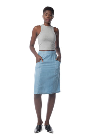 Revival Skirt LIGHT WASH / XS - Synergy Organic Clothing