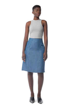 Revival Skirt MEDIUM WASH / XS - Synergy Organic Clothing