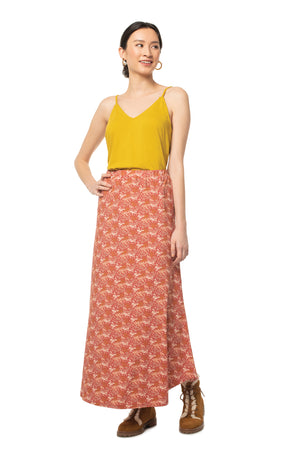 Floral Glastonbury Maxi Skirt FLORAL TEABERRY / XS - Synergy Organic Clothing