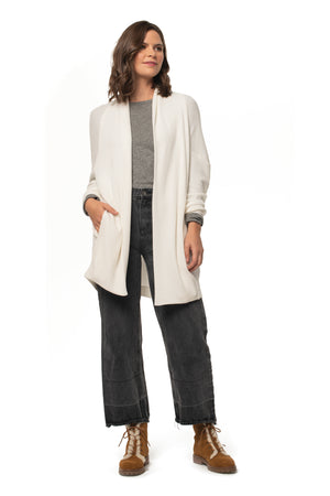 Waffle Knit Snuggle Me Cardigan WINTER WHITE / XS - Synergy Organic Clothing
