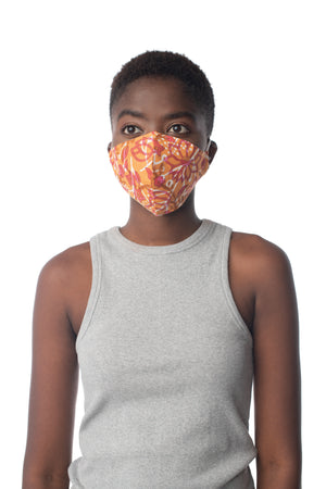 Adult Block Print Face Mask  - Synergy Organic Clothing