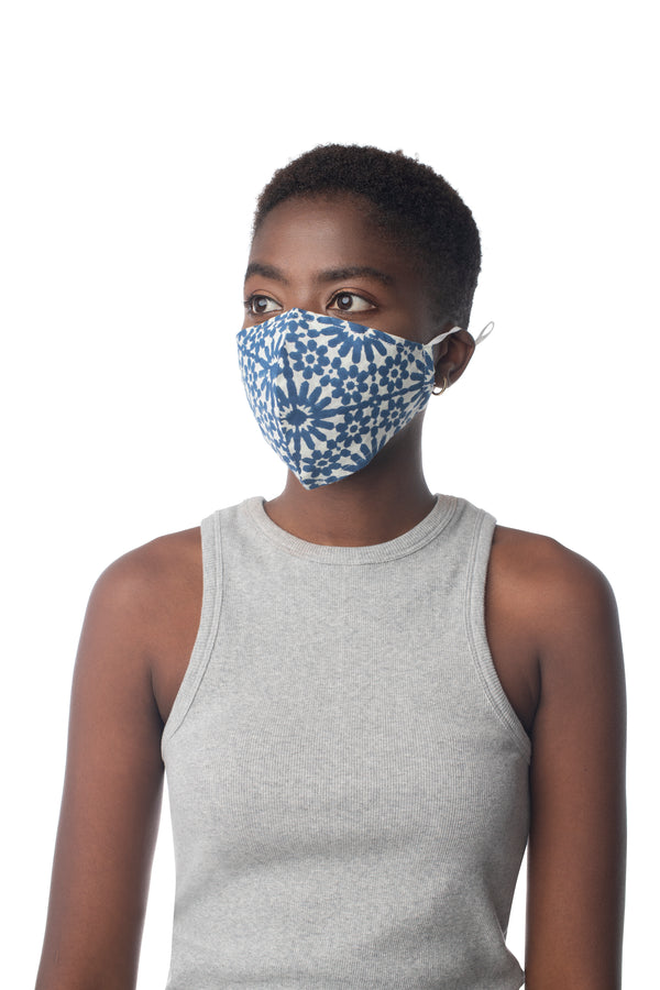 Adult Block Print Face Mask Assorted / OS - Synergy Organic Clothing