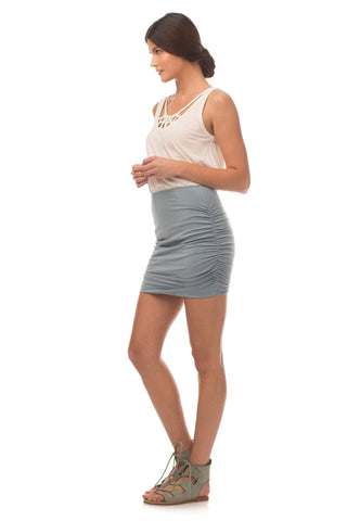 Bottoms - Essential Ruched Mini Skirt