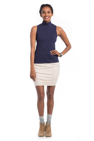 Bottoms - Flax Ruched Mini Skirt