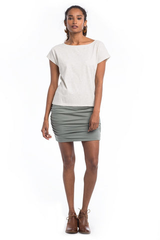 Bottoms - Ruched Mini Skirt