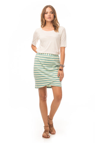 Bottoms - Striped Petal Skirt