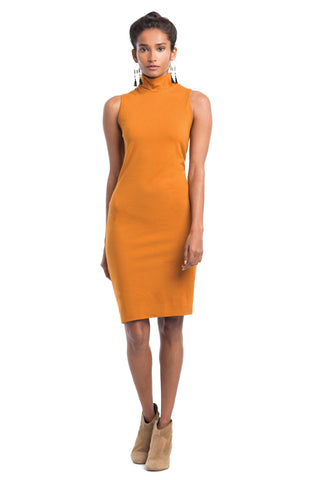 Dresses - Recycled Poly Mock Neck Dress