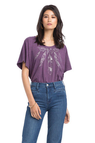 Tops - Feather Circle Top