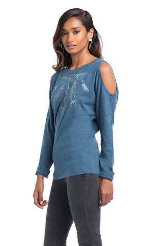 Tops - Feather Cold Shoulder Top