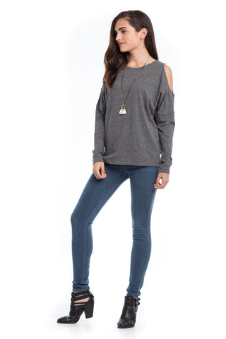 Tops - Flax Cold Shoulder Top