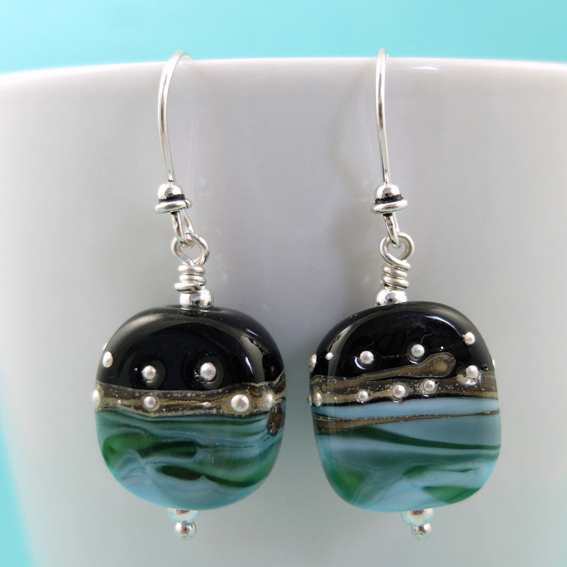 ocean at night earrings
