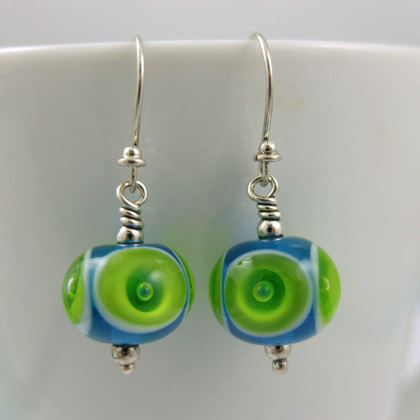 grass and sky bubble earrings