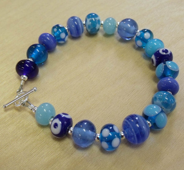 bahama blues mini bead bracelet