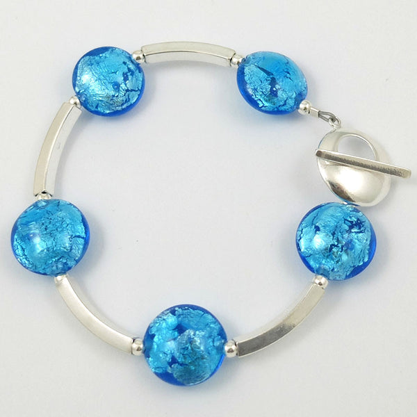 bahama blue bar bracelet