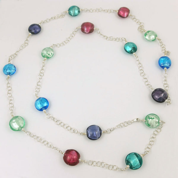 jewel sparkle strand necklace