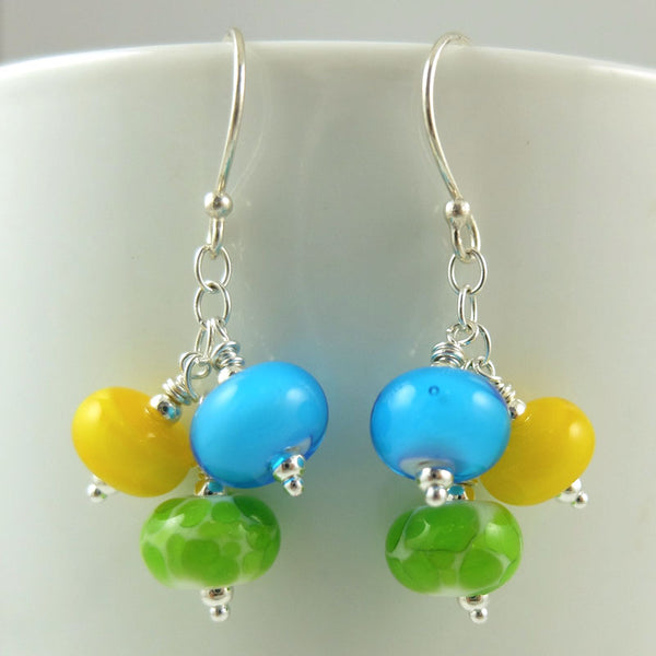 limoncello cluster earrings