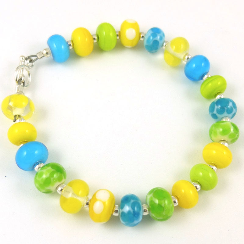 limoncello glass bead bracelet sailorgirl jewelry