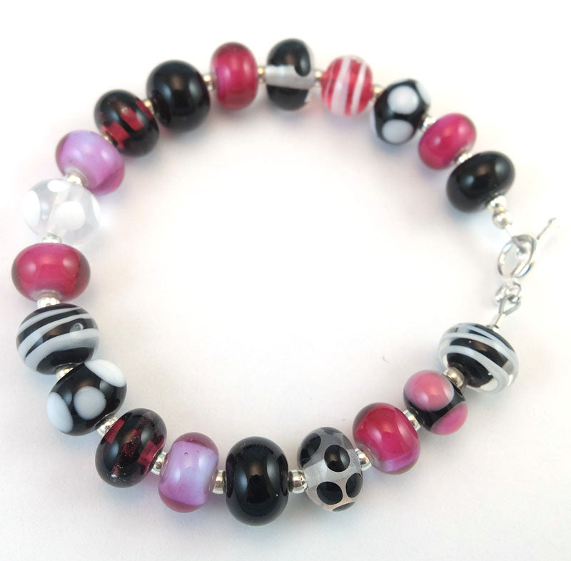 mini black raspberry ripple bracelet