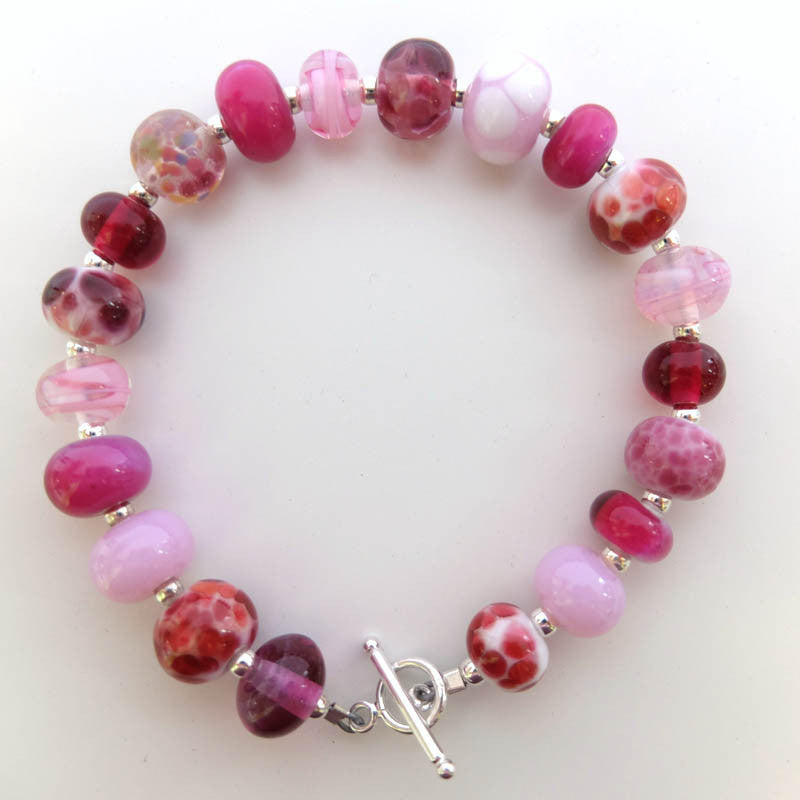 girly pink mini bead bracelet
