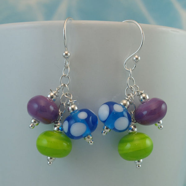 carnival cluster earrings