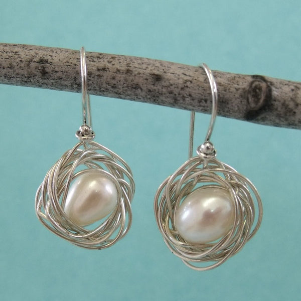 birds nest earrings