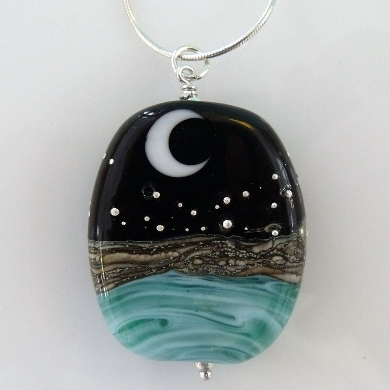 ocean at night pendant