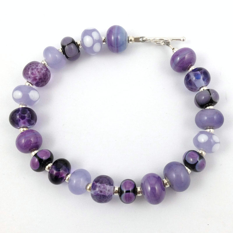 purple passion mini bead bracelet