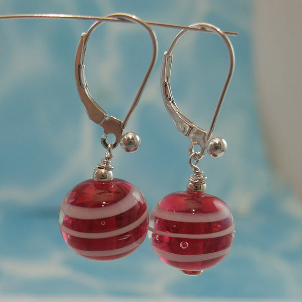 raspberry ripple earrings