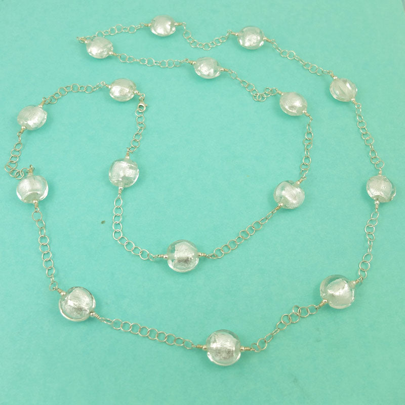 snow queen strand necklace