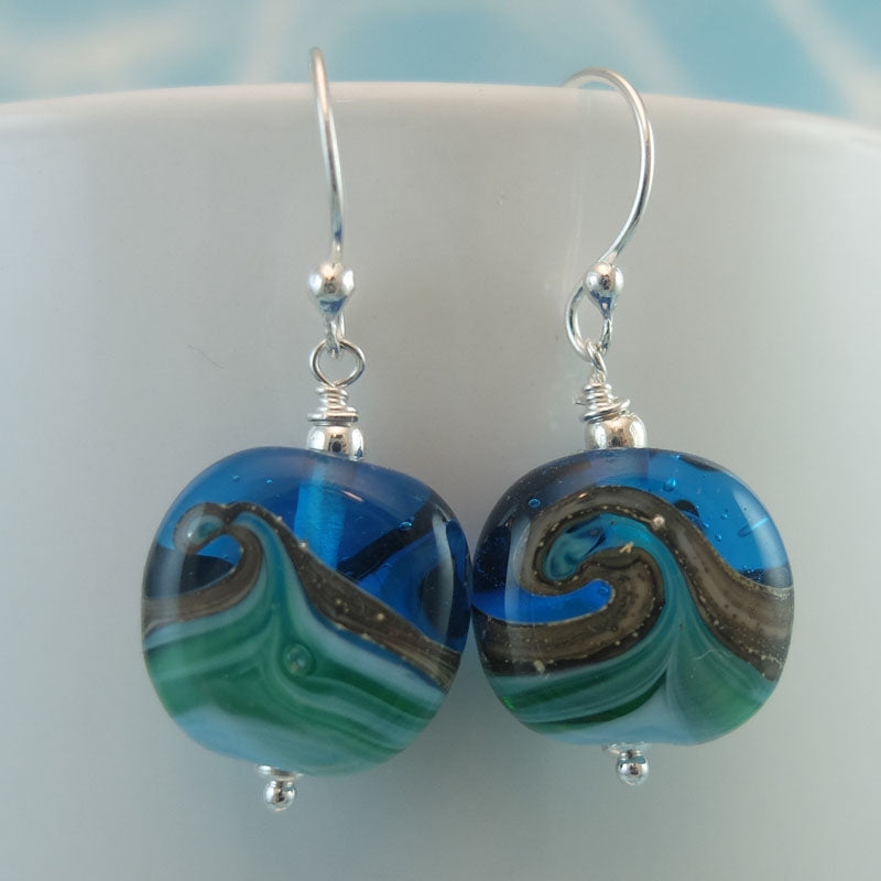wavy seashore earrings