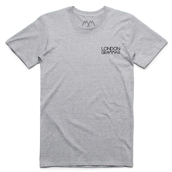 LONDON GRAMMAR EMBROIDERED GREY T-SHIRT