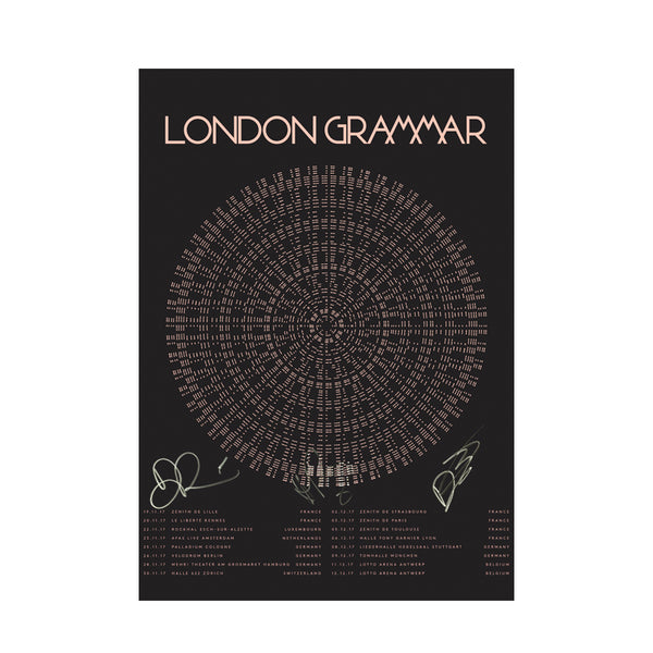 LONDON GRAMMAR 2017 EU TOUR POSTER (SIGNED)