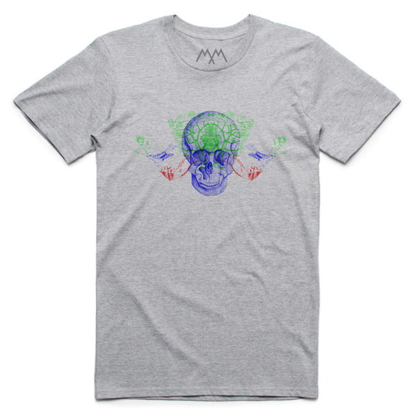 COLOUR SKULL GREY T-SHIRT