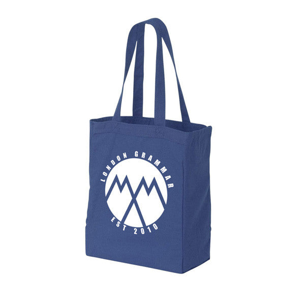 LONDON GRAMMAR EST. 2010 ROYAL BLUE TOTE BAG
