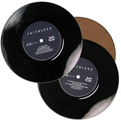 FAITHLESS LOGO COASTER SET X 4