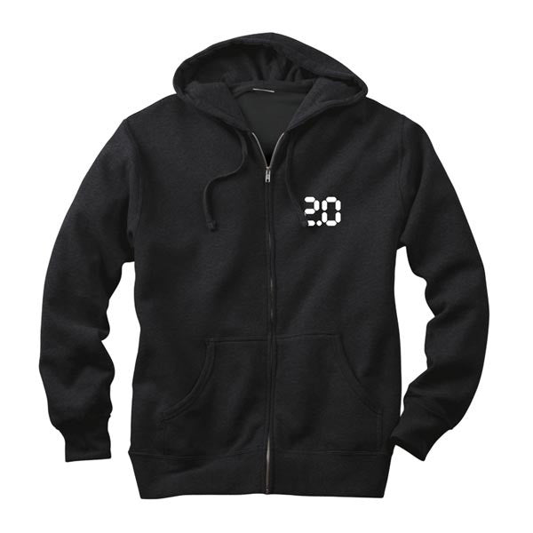 BLACK FAITHLESS 2.0 ZIP-UP HOODIE