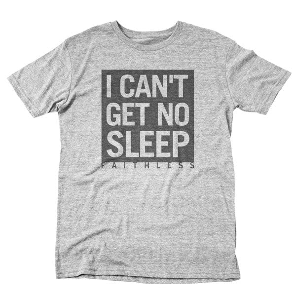 GREY MARL I CAN'T GET NO SLEEP T-SHIRT