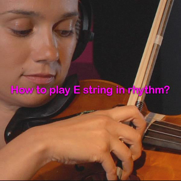 Lesson 010b : How to play E string in rhythm? - violino online, play violin online,   - tocar violin online, уроки игры на скрипке, Metodo Mirkovic - cours de violon en ligne, geige online lernen
