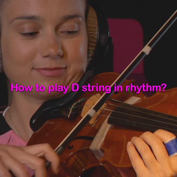 Lesson 010c : How to play D string in rhythm? - violino online, play violin online,   - tocar violin online, уроки игры на скрипке, Metodo Mirkovic - cours de violon en ligne, geige online lernen
