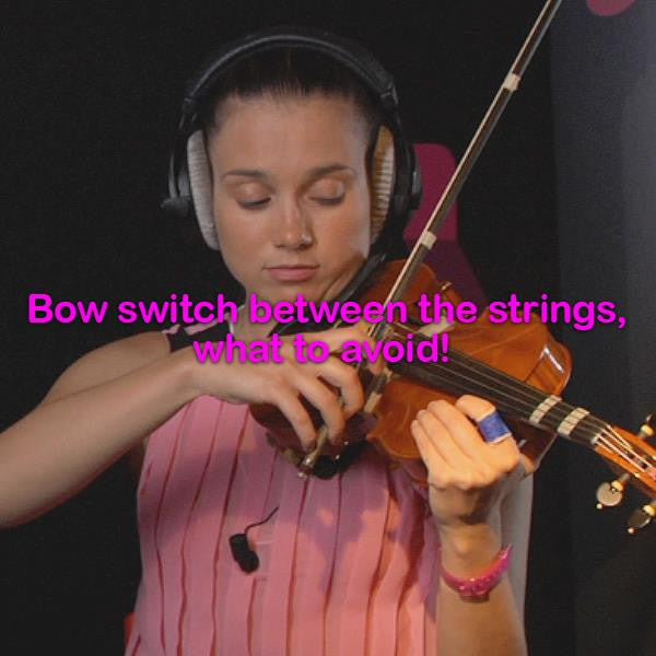 Lesson 011c : Bow switch between the strings, what to avoid! - violino online, play violin online,   - tocar violin online, уроки игры на скрипке, Metodo Mirkovic - cours de violon en ligne, geige online lernen
